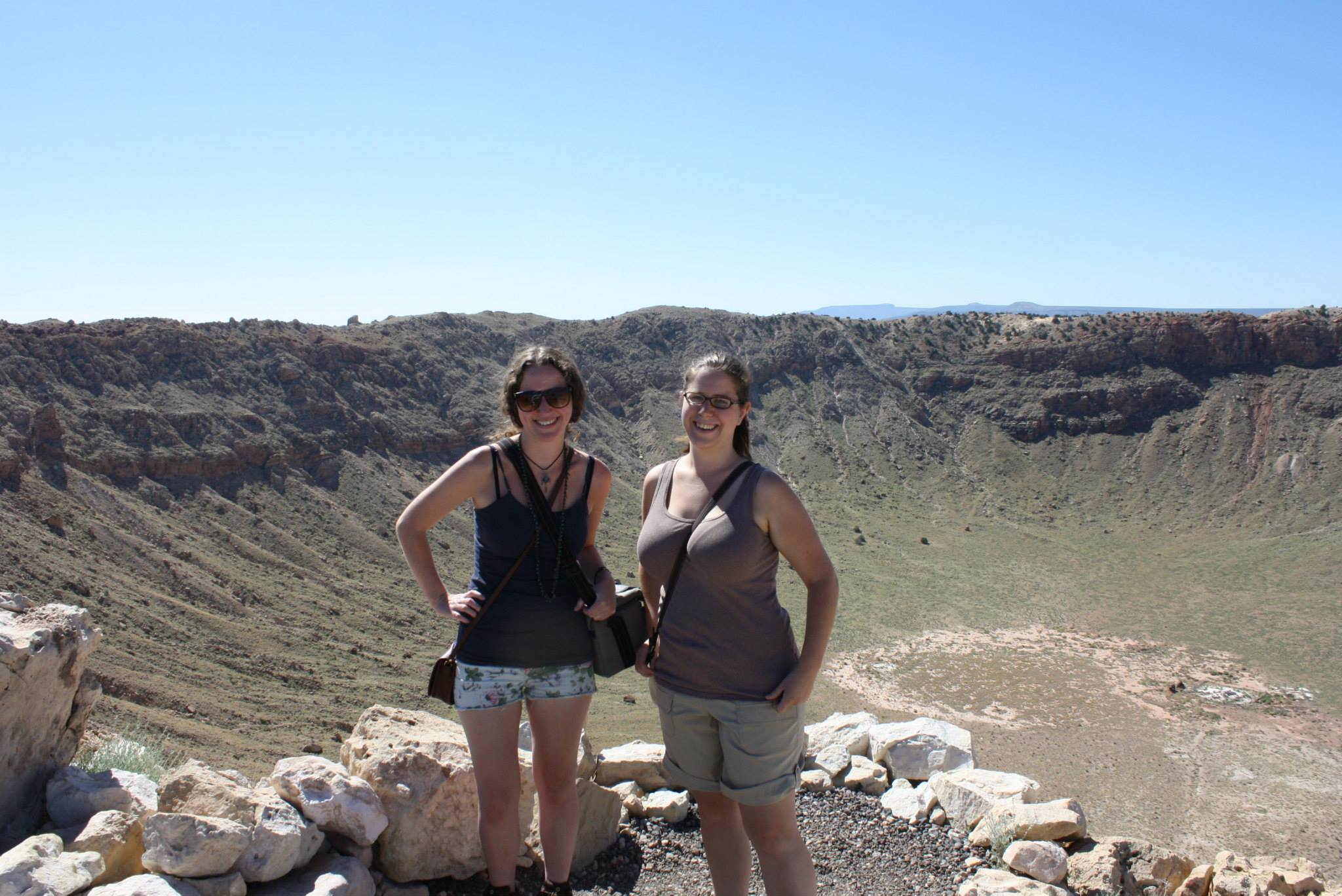 Mary and I at Meteor Crater in Arizona